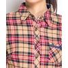 Рубашка женская байковая - бежевая клетка