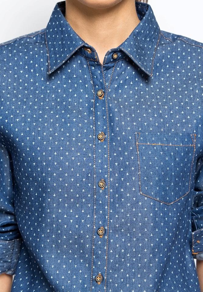 Рубашка с длинным рукавом, Джинс