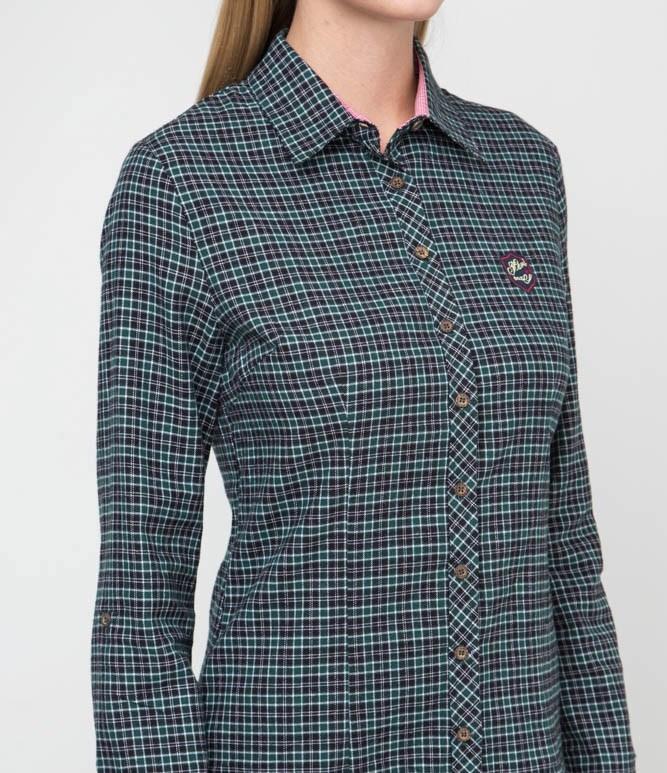 Рубашка с длинным рукавом, Клетка