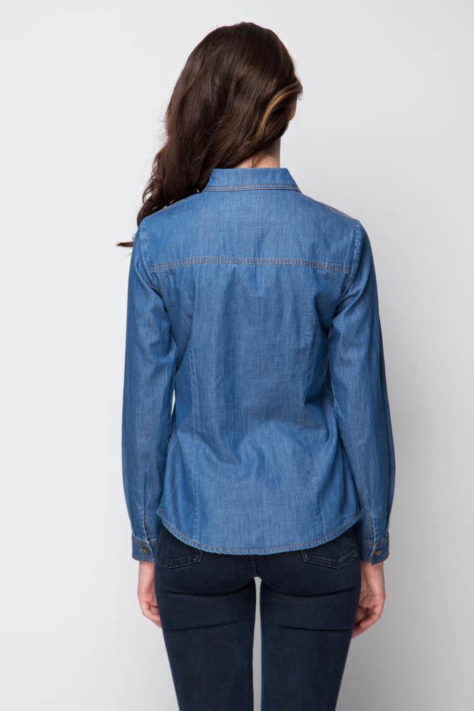 Рубашка с длинным рукавом, Джинс, MariMay