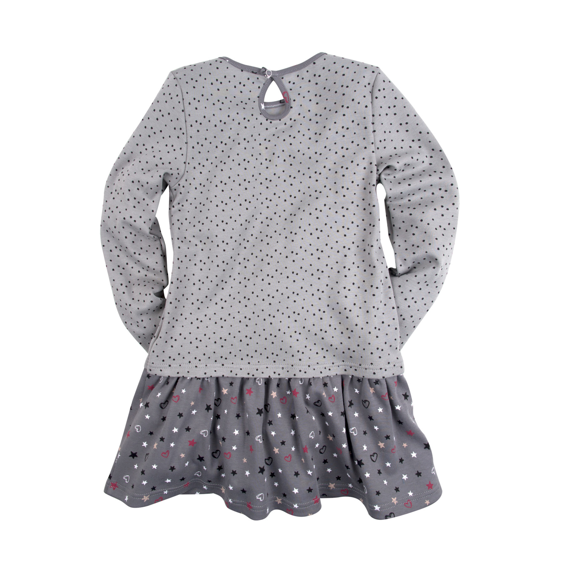Платье с принтом и стразами для девочки