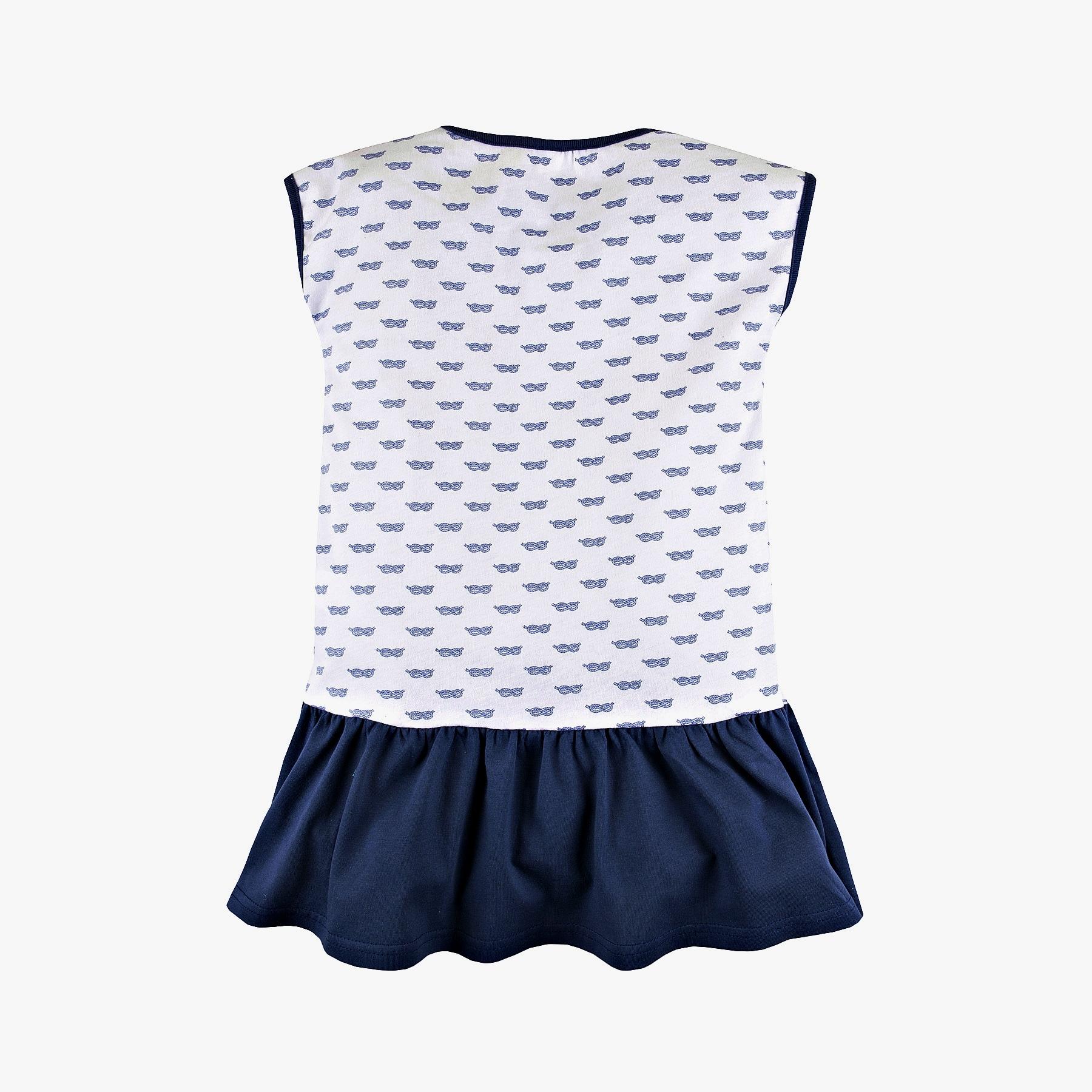 Платье с принтом и бантиком для девочки