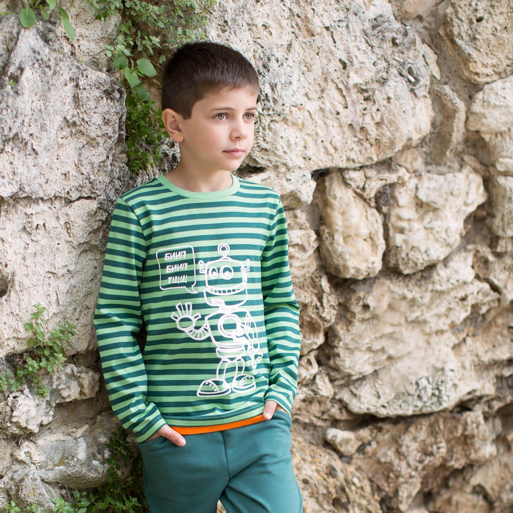 Джемпер с принтом для мальчика