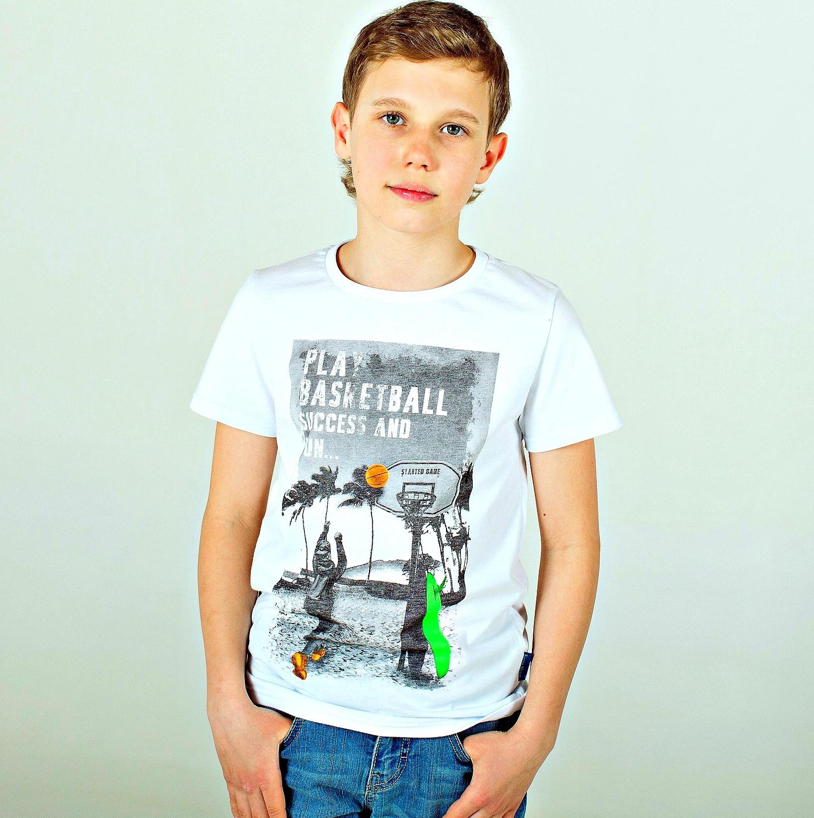 Футболка с флюоресцентным принтом для мальчика