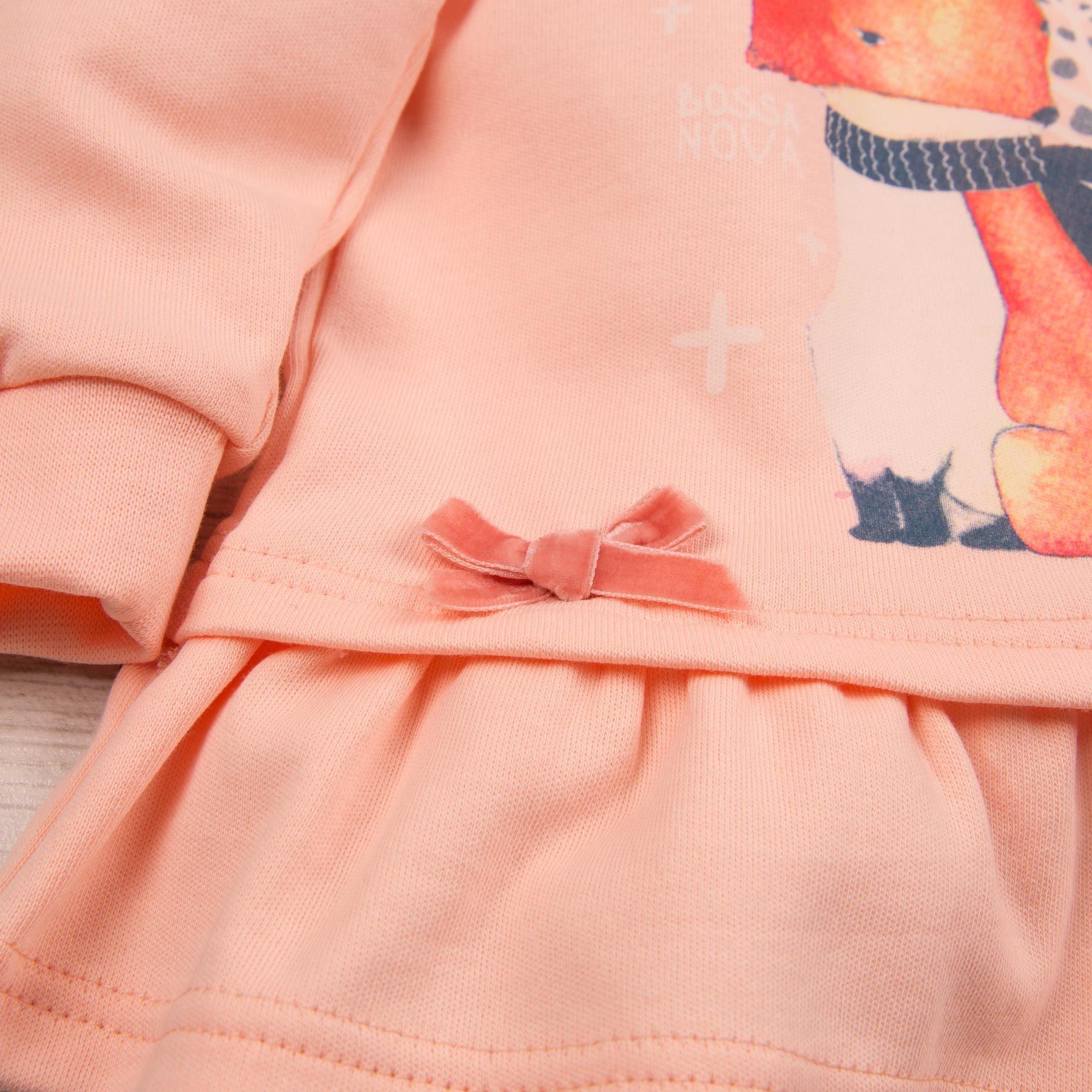 Комплект (туника+лосины) с принтом для девочки