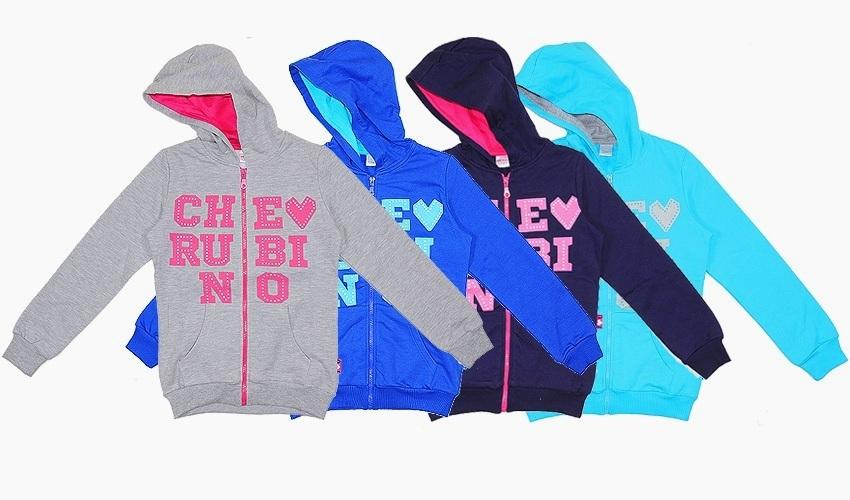 Толстовка-куртка для девочки