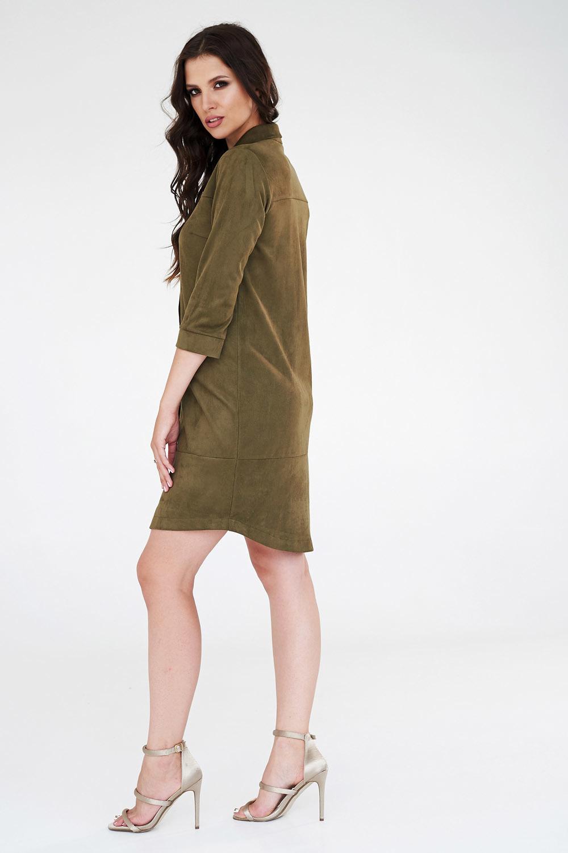 Платье-рубашка замшевое