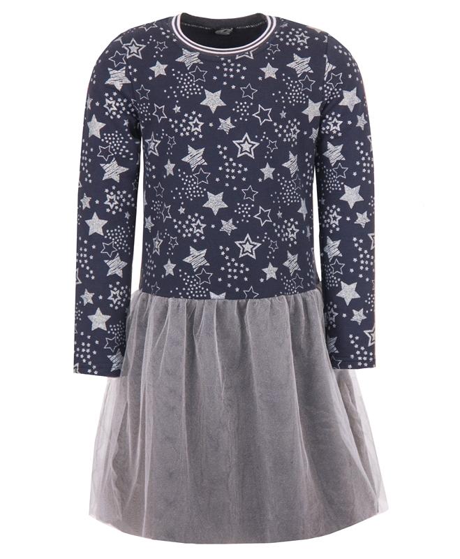 Платье для девочки с фатиновым валаном и блестками