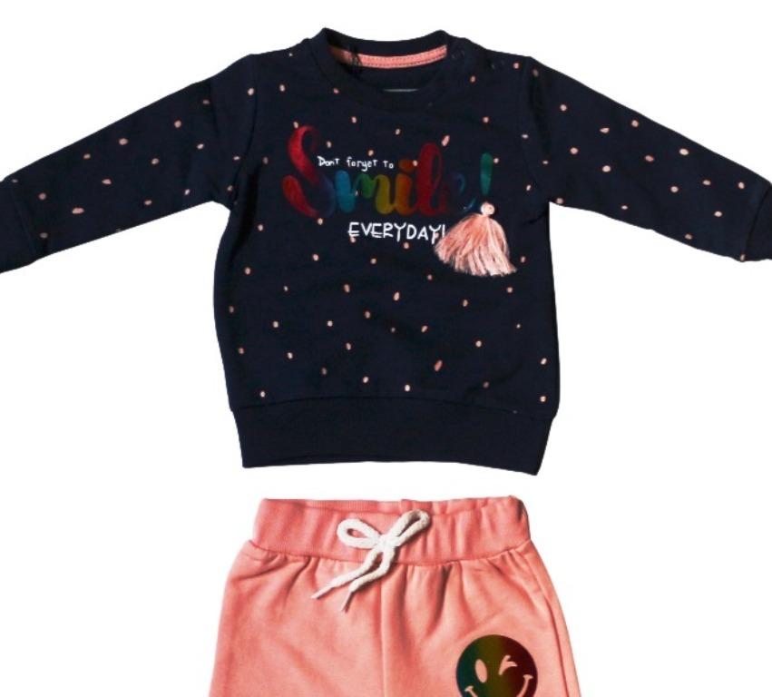 Комплект для девочек с разноцветным блестящим принтом