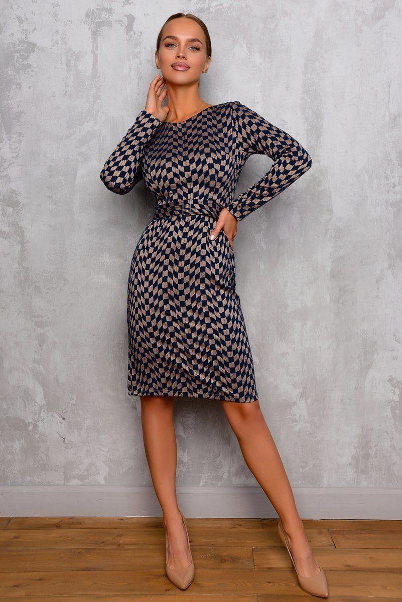Платье женское жаккардовое