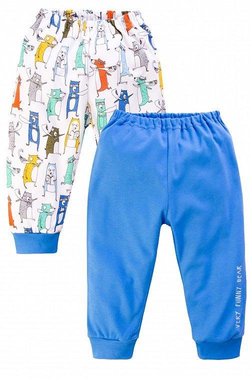 Штанишки для мальчика синие с надписью