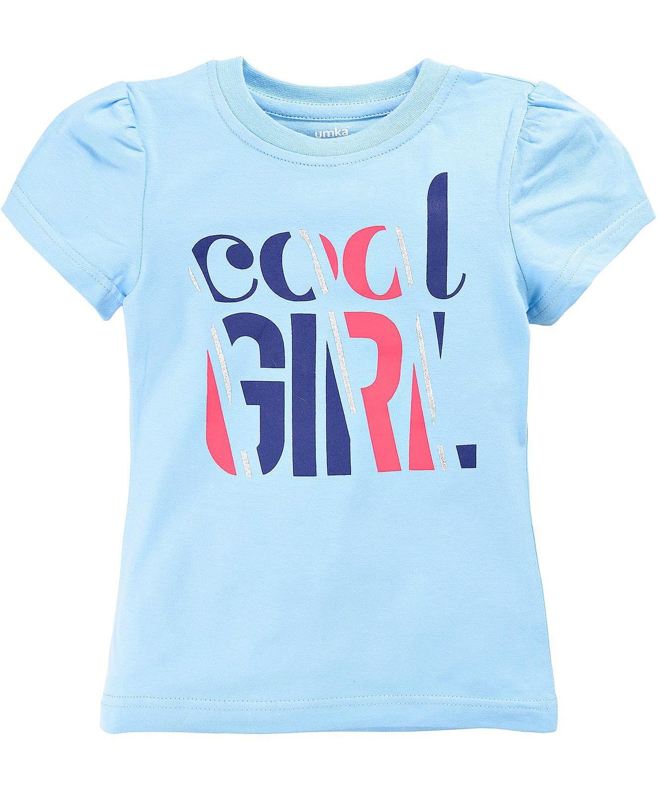 Футболка для девочки с блестящим принтом