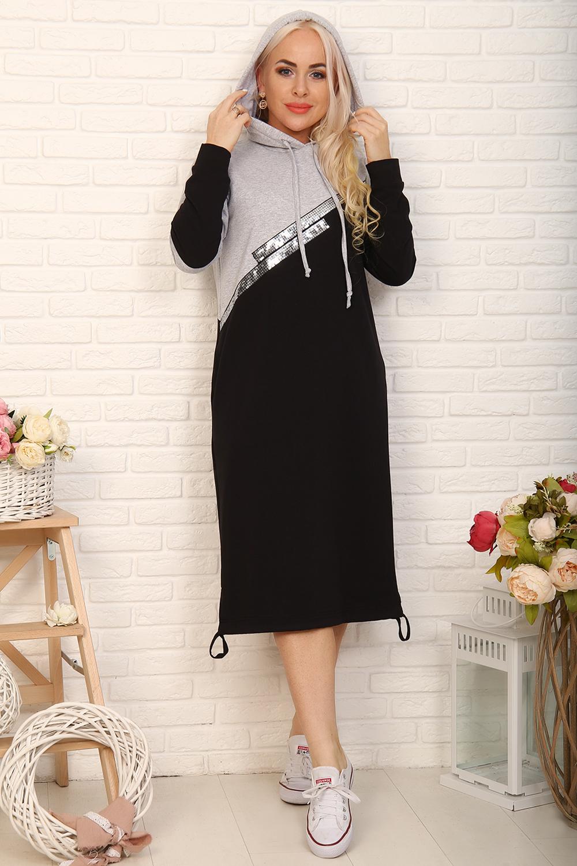 Оригинальное платье спортивного стиля с пайетками