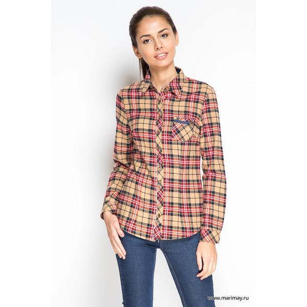 MariMay Рубашка с длинным рукавом, Клетка