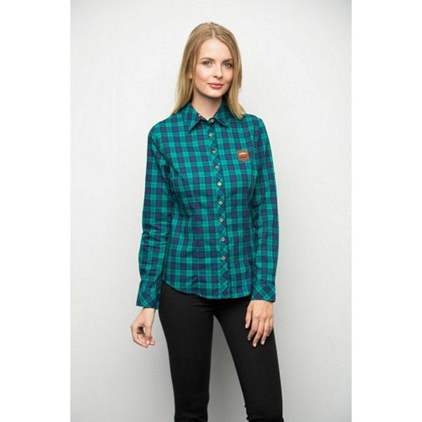 Рубашка женская - зеленая клетка