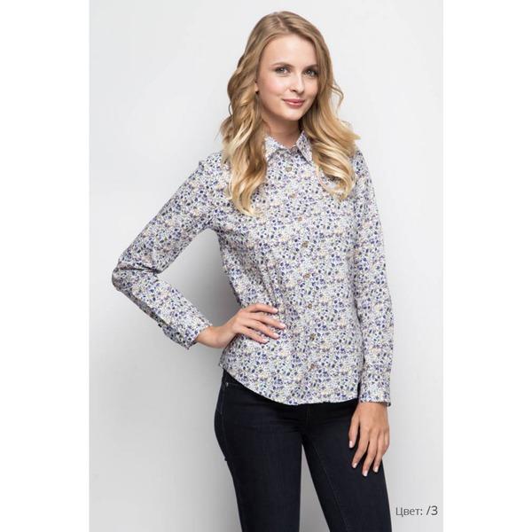 Рубашка женская с рисунком - цветы