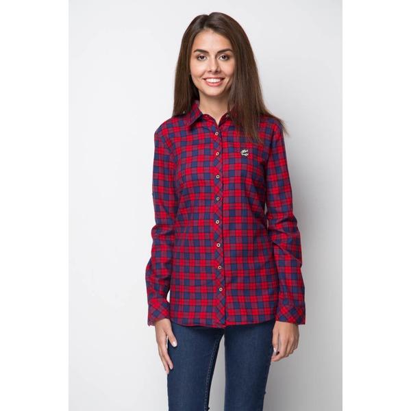 Рубашка женская байковая - красная клетка