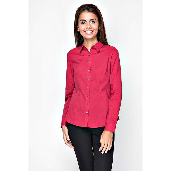 Рубашка женская - бордовая со вставками на логтях