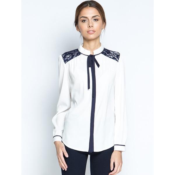 Блузка с длинным рукавом, Белая, MariMay