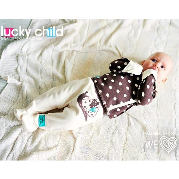 Lucky Child Комплект (распашонка + ползунки), Улитки