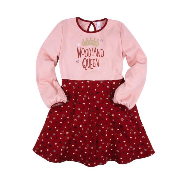 Платье с карманами, принтом со стразами для девочки, Bossa Nova