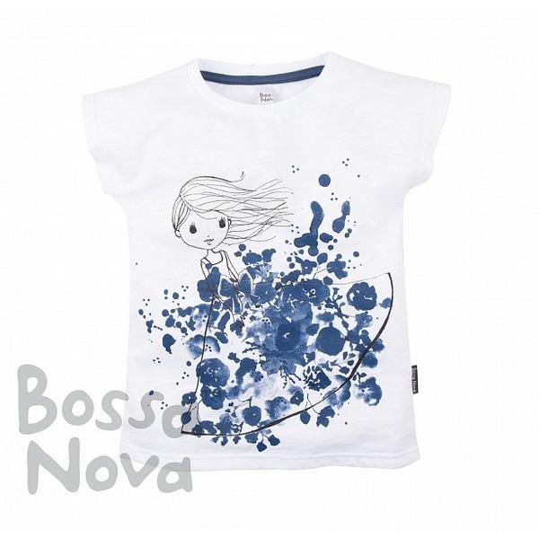 Футболка с принтом для девочки, Bossa Nova