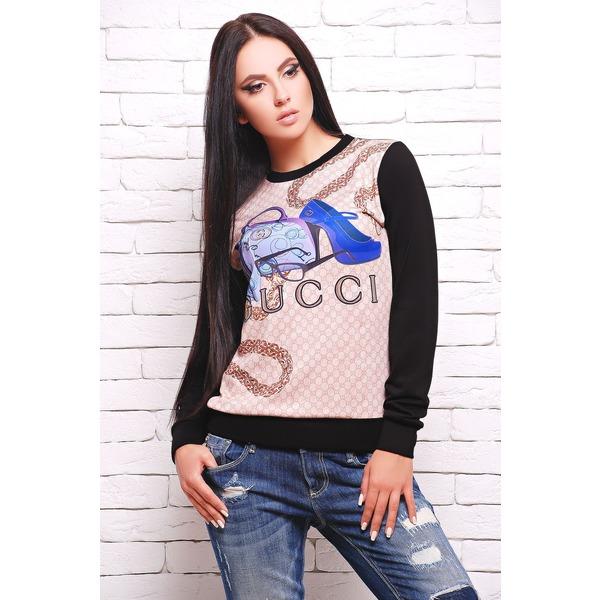 "Свитшот с принтом ""Sweatshirt"", Fashion Up"