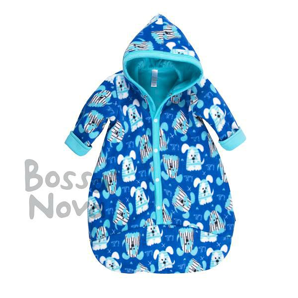 Конверт для малышей из флиса на х/б подкладе, Bossa Nova