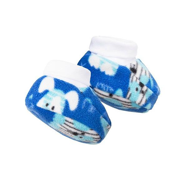 Пинетки для малышей из флиса на х/б подкладке, Bossa Nova