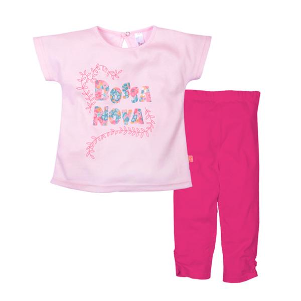 Комплект (футболка + лосины) с принтом для девочки, Bossa Nova
