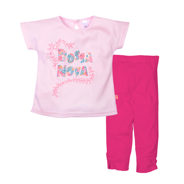 Комплект (футболка + лосины) с принтом для девочки