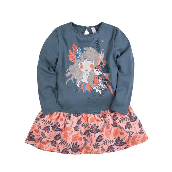 Bossa Nova Платье с принтом с блестками для девочки