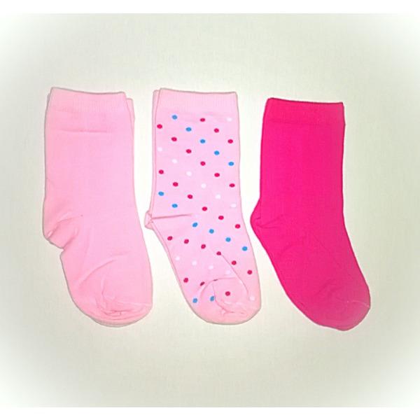 Детские носки для девочки, комплект - 3 пары