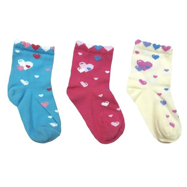 Носки для девочки, комплект - 3 пары, Cherubino