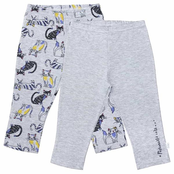 Штанишки для девочки без рисунка с надписью на одной штанине