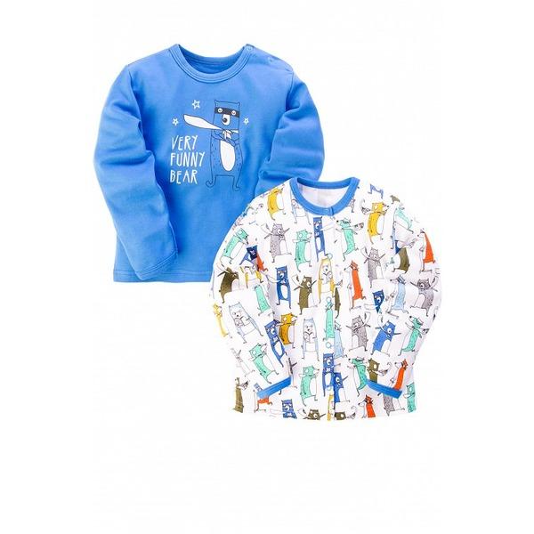 Кофточка для мальчика синяя с принтом