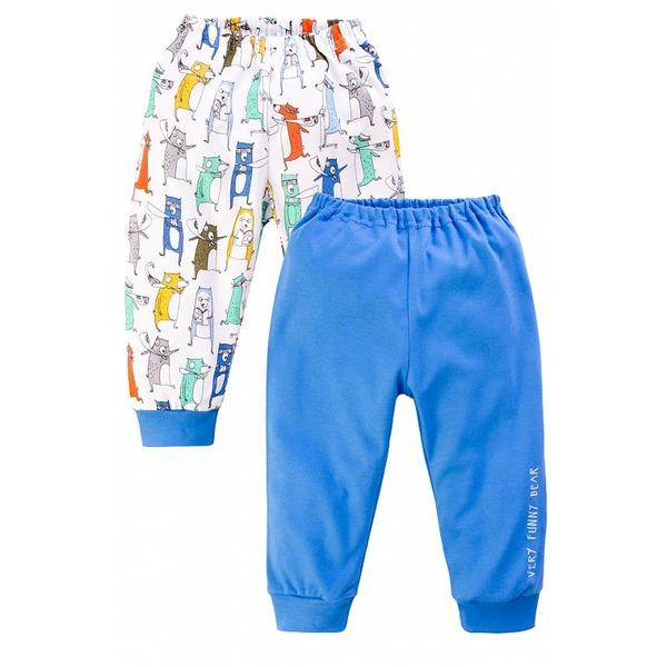 Штанишки для мальчика синие с надписью, Веселый малыш