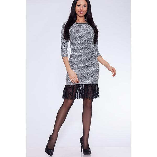 Платье женское с люрексом бисером и юбкой из фатина