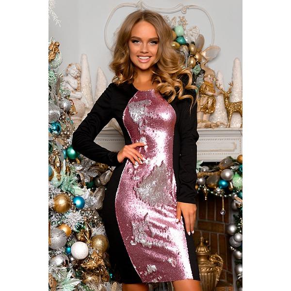 Платье женское с пайетками перевертышами, OpenStyle