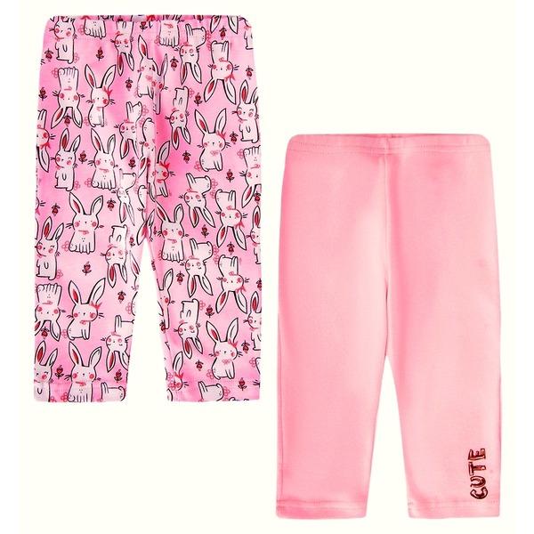 Штанишки для девочки розовые с надписью, Веселый малыш