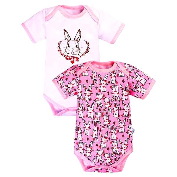 Комбинезон боди для малышей Розовый с рисунком, Веселый малыш