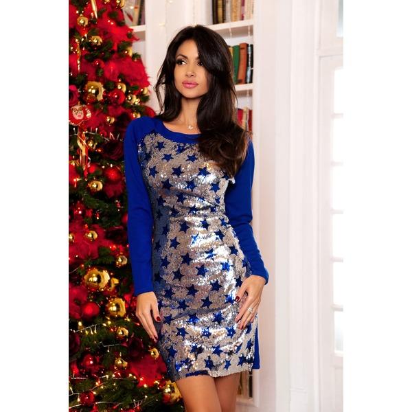 Нарядное платье с двусторонними пайетками