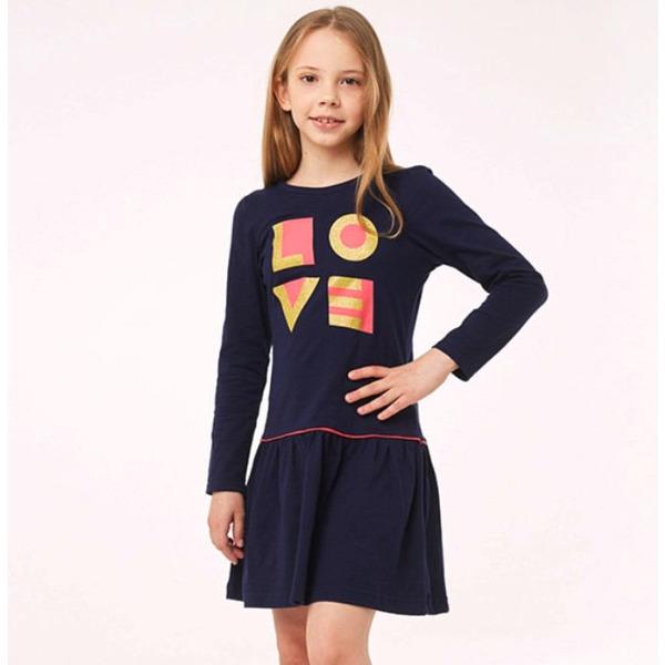 Платье для девочки с блестящим принтом