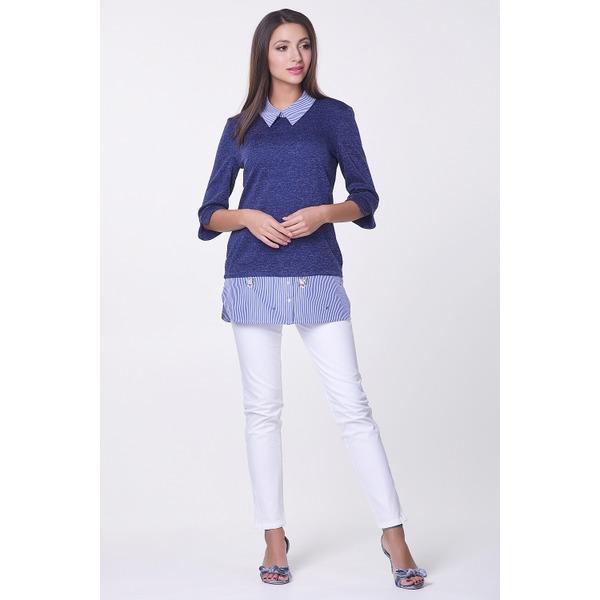 Блузка с имитацией рубашки