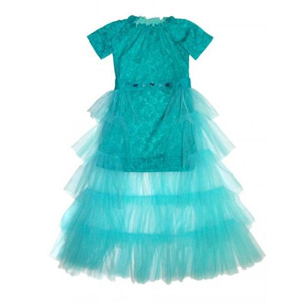 Нарядный комплект для девочки - платье с юбкой