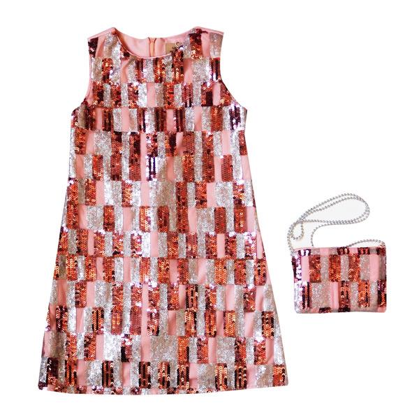 Платье нарядное для девочки с пайетками