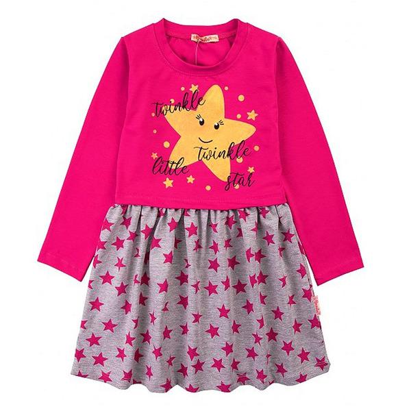 Платье для девочек с блестящим принтом