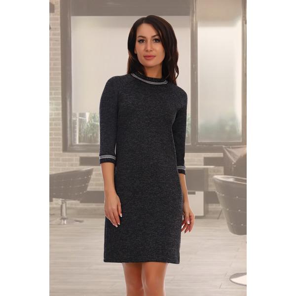 Платье с отделкой из люрекса