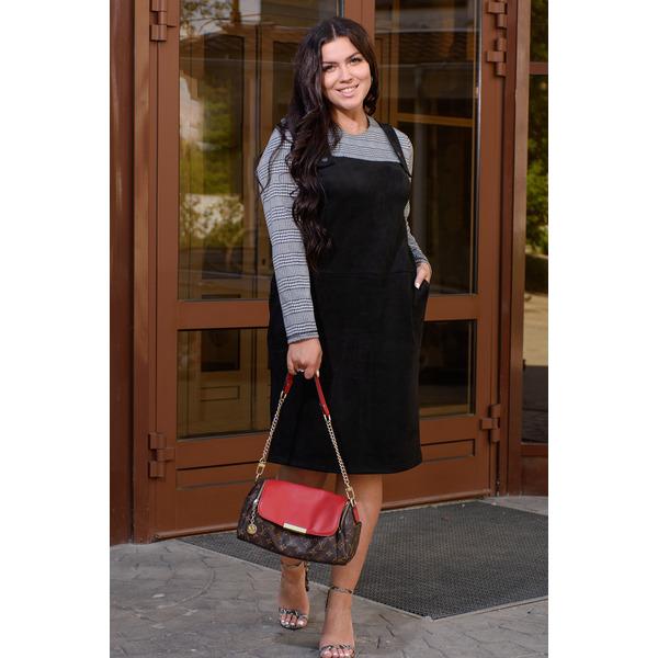 Платье с имитацией сарафана