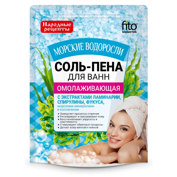Соль-пена для ванн - Омолаживающая Морские водоросли